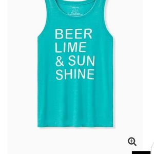 🆕BEER & SUNSHINE CLASSIC FIT CREW TANK - Med